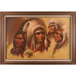 Lyle Tayson, Sr., oil on canvas