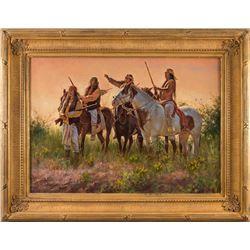 Don Oelze, oil on canvas