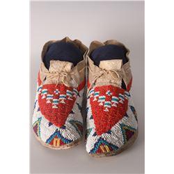 "Lakota Moccasins, 10"" long"