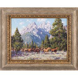 Russell Houston, oil on canvas
