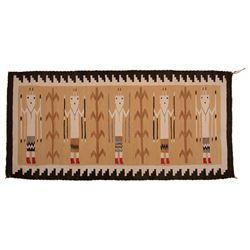 "Navajo Yei Weaving, 5'2"" x 2'6"""