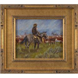 R. F. Morgan, oil on canvasboard