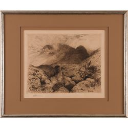 Thomas Moran, etching