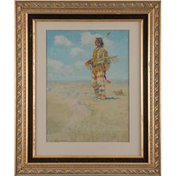 Frederic Remington, oleograph on canvas