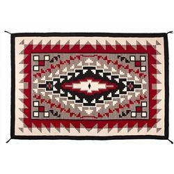 "Navajo Weaving, 6'9"" x 4'6""."
