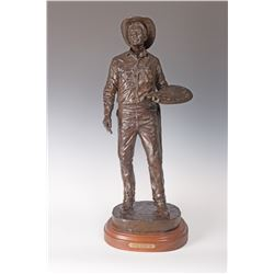 Bob Scriver, bronze with multi-color paint/patina