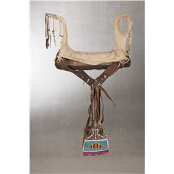 "Crow Woman's Saddle, 27"" x 12"" x 17"""