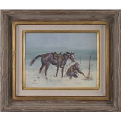 Ace Powell, oil on canvasboard