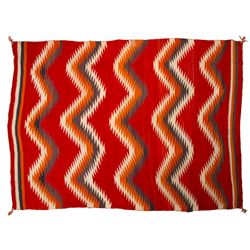 "Navajo Transitional Blanket, 6'11"" x 4'10"""