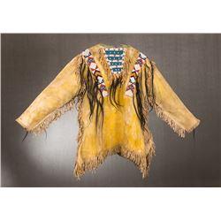 "Arapahoe Beaded Scalplock Warrior's Shirt, 35"" x 25"""
