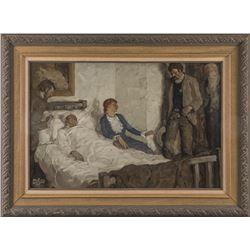 E. F. Ward, oil on canvas