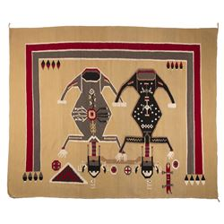 "Navajo Weaving, 7'5"" x 6'3"""