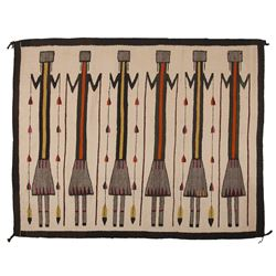 "Navajo Yei Weaving, 5'4"" x 4'2"""