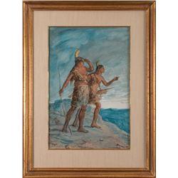 Julian Scott, watercolor