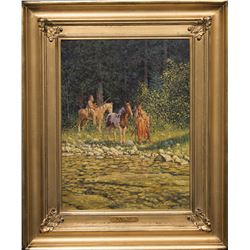 R. E. Pierce, oil on canvas