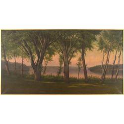 James E. Stuart, oil on canvas