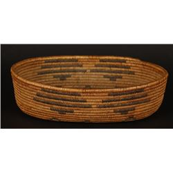 Oval Pima Basket with Diamond Design