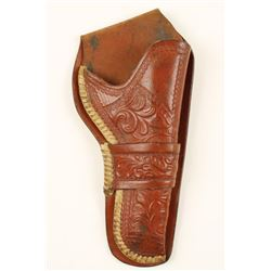 Vintage Tooled Leather Holster for Colt SA.