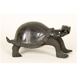 Curious Mata Ortiz Blackware Turtle Effigy
