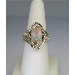 Gorgeous Opal & Diamond Ring.