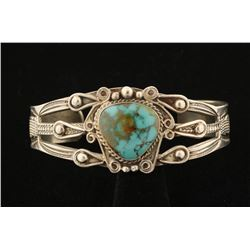 Heavy Turquoise Native American Cuff