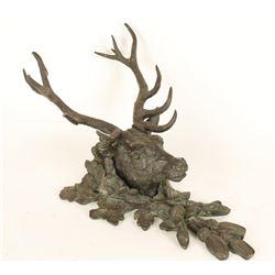 Bronze Stag Figure.