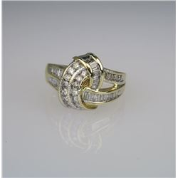 Wonderful Diamond Knot Ring.