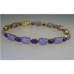 Exquisite Lavender, Jade & Amethyst Bracelet