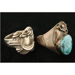 Sterling Silver Wrist Bracelet, Indian Ring