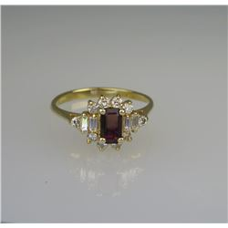 Exquisite Natural Ruby & Diamond Ring.