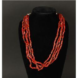 Vintage Mediterranean Coral Necklace