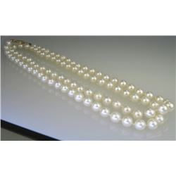 Lustrous Strand of 5.5mm Cultured Pearls.