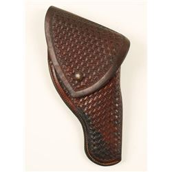 Early Hand Tooled Heiser Flap Holster.