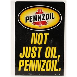 Rectangular Pennzoil Sign.