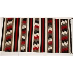 Navajo Red, White, and Black Textile
