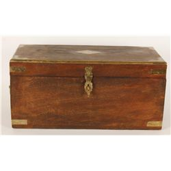 Vintage Handsome Wooden Chest