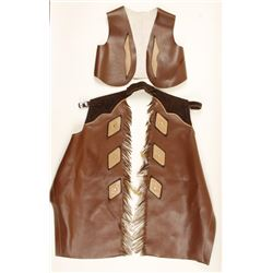 Child's Western Vest & Chaps Outfit.