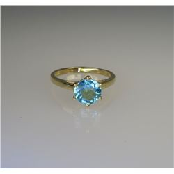 Lovely Blue Zircon Solitaire Ring.