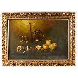 Original Oil on Canvas of Tabletop Still Life