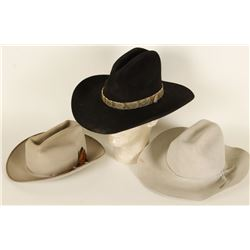 Collection of 3 Men's Cowboy Hats