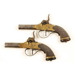 Unmarked Cased Set of 2 Pistols Cal: .36 SN: NVSN