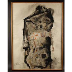 """Tempera on Paper by Paul Dyck """"The Robe"""""""