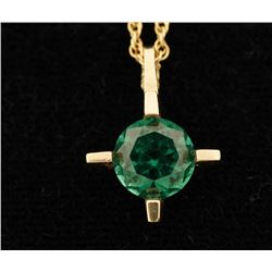 Green Spinel Solitaire Pendant