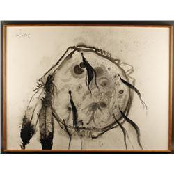 "Tempera on Paper by Paul Dyck ""Cheyenne Shield""."