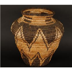 Apache Basket with Olla Geometric Design.