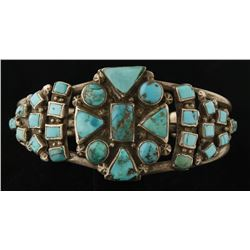 Vintage Old Pawn Lone Mountain Turquoise Cuff