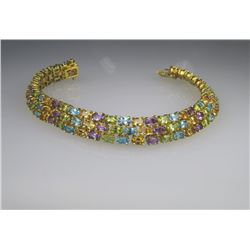 Vibrant Multi-Colored Gem Bracelet