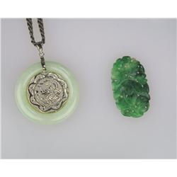 Lot of 2 Jade Pieces.