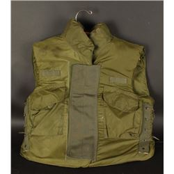 Military Green Body Armor Vest with 3/4 Collar.