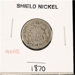 1870 Shield Nickel